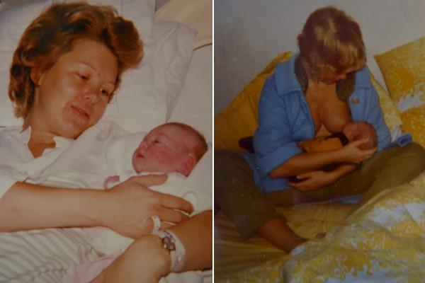Mamma och jag 1973.