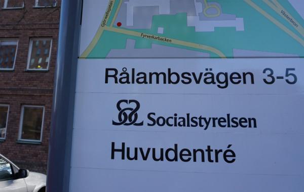 Socialstyrelsens sovråd för bebisar. Skyld till Socialstyrelsen, i Stockholm.